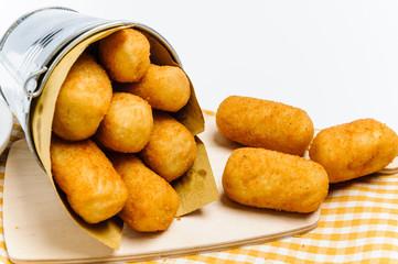 Crocchette di patate, close-up