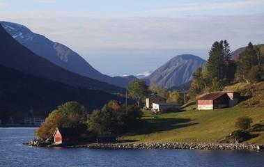 Norwegen, Norway, Hjørundfjord, Fjord