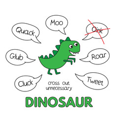 Cartoon Dinosaur Kids Learning Game