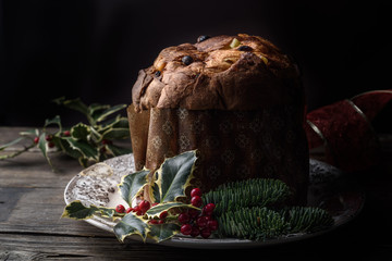 Traditional italian Christmas cake, Panettone
