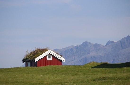 Norwegen, Norway, Vega-Archipel, Hütte, wooden house