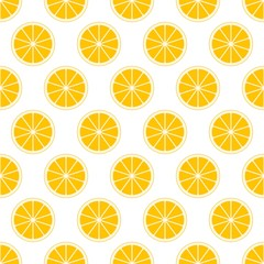 Orange citrus background of cut fresh juicy orange rings in row next to each other and alternately below. The concept of healthy fruit eat, diet meal