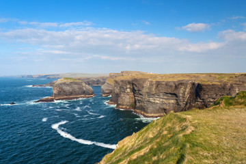 Cliffs in Kilkee, Ireland