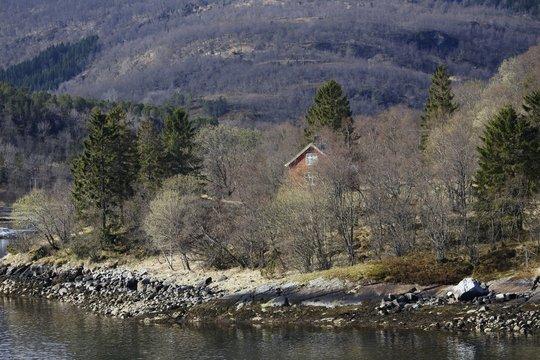 Norwegen, Norway, Hütte, wooden house