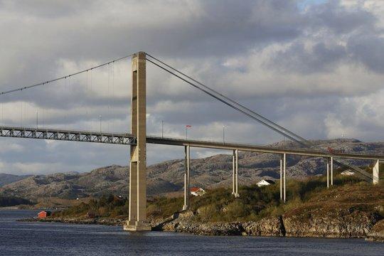 Norwegen, Norway, Rørvik, Brücke, Bauwerk