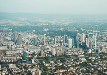 Aerial view of Frankfurt am Main, Germany.
