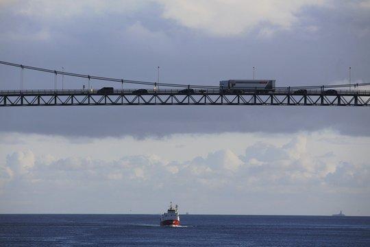 Norwegen, Norway, Rørvik, Brücke