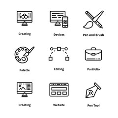 Design thin line icon