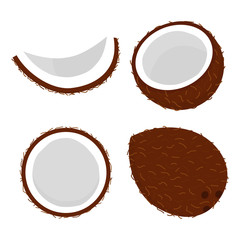 set with coconut