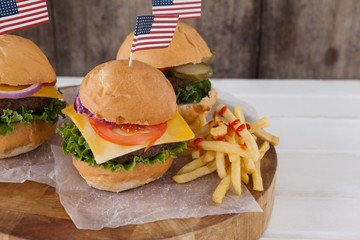 Snacks with 4th july theme
