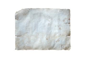 altes Papier freigestellt