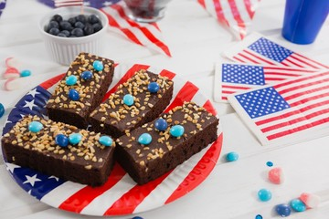 Sweet food decorated with 4th july theme
