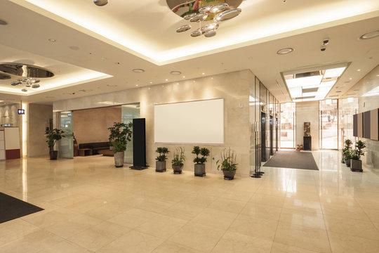 hotel lobby interior in seoul, korea.