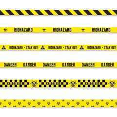biohazard yellow tape set