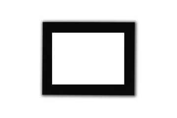 Black photo frame in white background