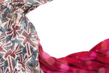 a5d9242dc Decorative draping frame of the textile. Women's scarf red figure the  British ...