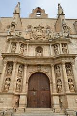 Baroque entrance of the church of Santa Maria