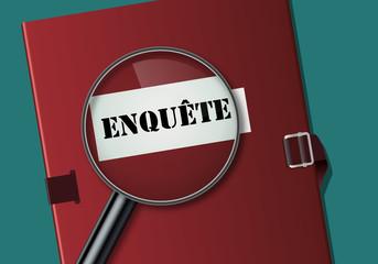 enquête - loupe - investigation - dossier - concept - sondage - information - scoop - média - secret