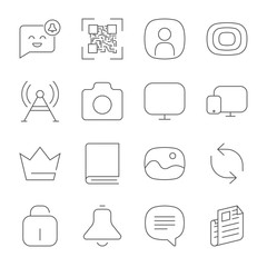 Simple web icons set. Universal web icon to use in web and mobil