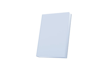 Blank book cover isolate on white background. 3D render