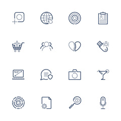 A set of various universal icons for various needs: sites, progr