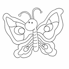 cute butterfly illustration drawing coloring