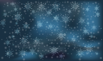 elegant christmas background  with snowflakes and place for your text , vector