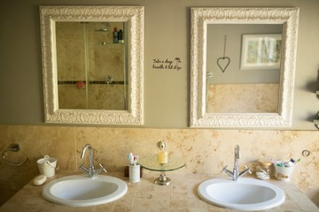 Mirror over sinks