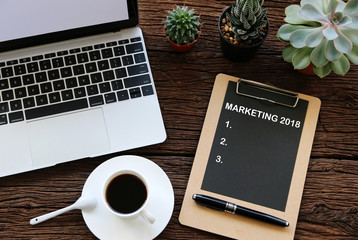 MARKETING 2018 Business Concept