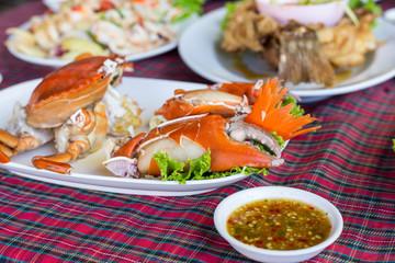 Steamed Crab food