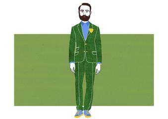 Fashion dandy in green