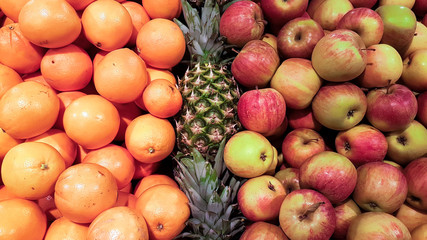 Apples and oranges and pineapples on the market