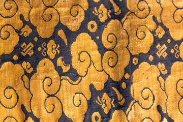 Vintage traditional japanese silk kimono Japan pattern on decorative background.