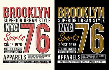 NYC Brooklyn Typography, vector image