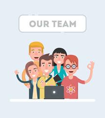 Our team - modern flat vector illustration