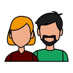 Couple avatar cartoon