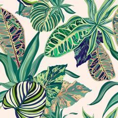 Tropikalny dżungli wektor wzór