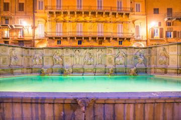 Fonte gaia, Piazza del Campo, in Siena