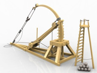 Catapult, Leonardo da Vinci, Codex Atlanticus/0148r
