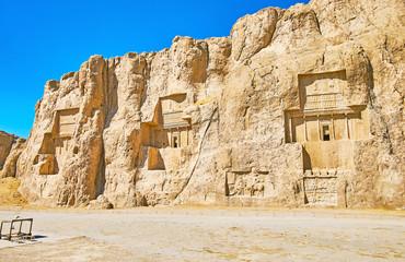 Ancient tombs in Naqsh-e Rustam, Iran
