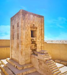 Ka'ba-ye Zartosht tower in Naqsh-e Rustam, Iran