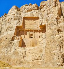 Ancient mausoleums in Naqsh-e Rustam, Iran