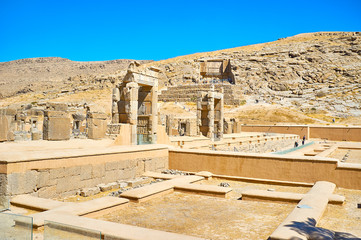 Walk in Persepolis complex, Iran