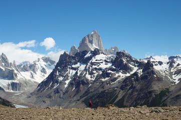 Silhouette devant la Cordillère des Andes - 2