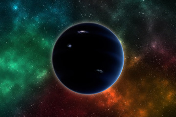 Hypothetical planet X nicknamed planet 9. Elements of this image furnished by NASA