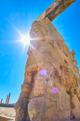 The sun over Persepolis, Iran