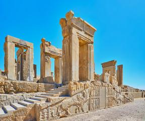 Ruins of Tachara palace, Persepolis, Iran