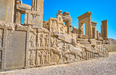 Masterpiece reliefs of Tachara, Persepolis, Iran