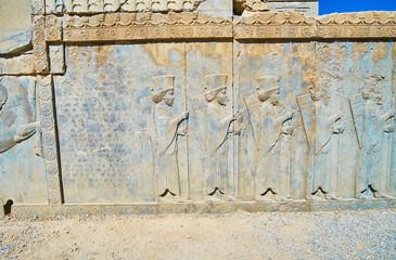 The ancient Persian soldiers, Persepolis, Iran