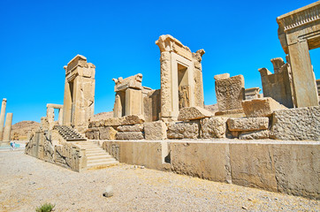 Visit palaces of Persepolis, Iran